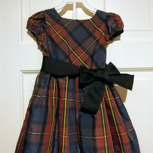 Girls plaid dress.